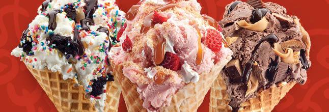 Waffle cones and ice cream cones de jour!