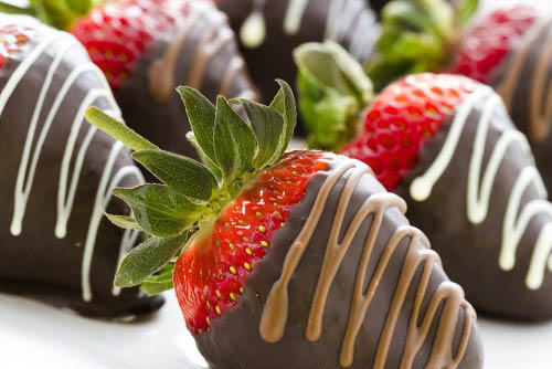 Chocolate Covered Strawberries at Cold Stone in Sunnyvale and Campbell.