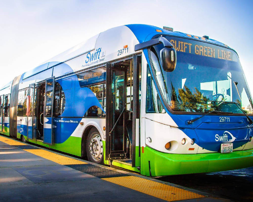 Community Transit Swift Green Line - ride the bus and get where you're going fast - get your ORCA card