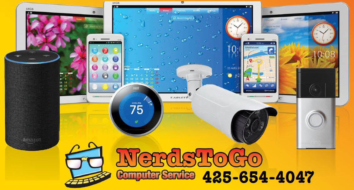 Got a tech problem? We repair all kinds of technical devices - cellphone repair - iPad repair - security devices - Nerds To Go in Bellevue, WA