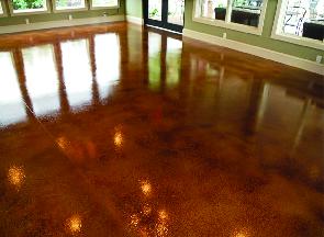 Concrete Coating interior floor resurface