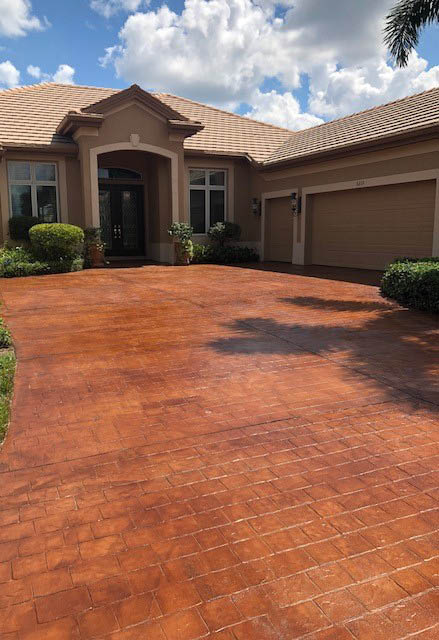 customize with color, design, and finishes, stained, stamped, resurfaced, commercial flooring, interior, exterior, high-quality