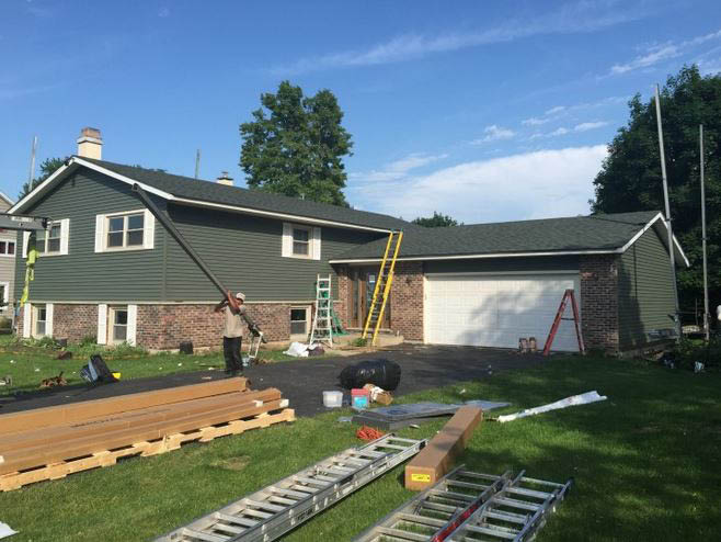 house siding; home roofing; roof installation Chicago