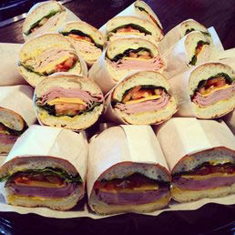 Sumptuous overstuffed wraps from Continental Kitchen in Beverly Hills, CA