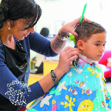 Young Boy's Haircut in Highlands Ranch