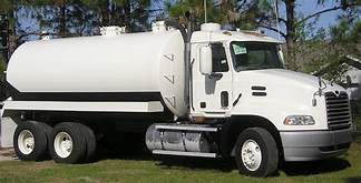 White septic truck from D. Lovenberg's Septic Division in Byram, NJ