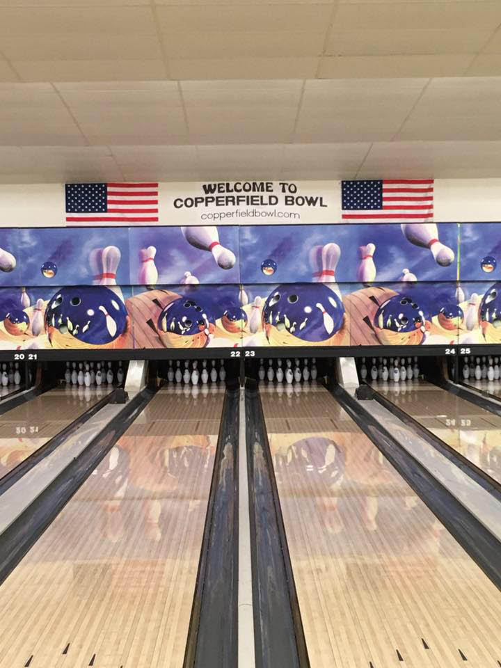 Enjoy a regular activity by signing up for a bowling league at Copperfield Bowl