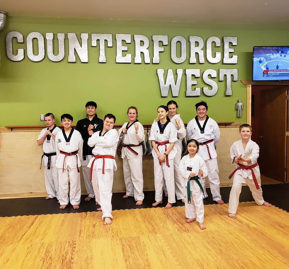 Group Taekwondo classes for all ages at Counterforce Taekwondo West Seattle - group martial arts classes for all ages - Taekwondo training near me - Martial arts training near me