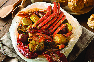 Crawfish boilcrab basketsfresh crabcrab legs