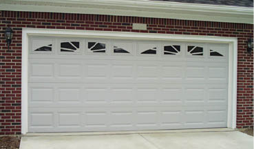 photo of double garage door from Crawford Door Co. in Lansing, MI