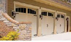 photo of multi car garage doors from Crawford Door in Lansing, MI