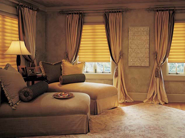 Creative Interiors custom drapery panels in living room windows