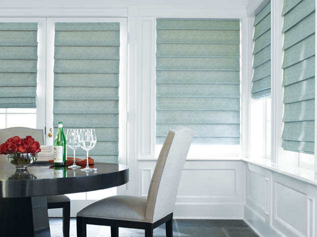 Creative Interiors Hunter Douglas roman shades