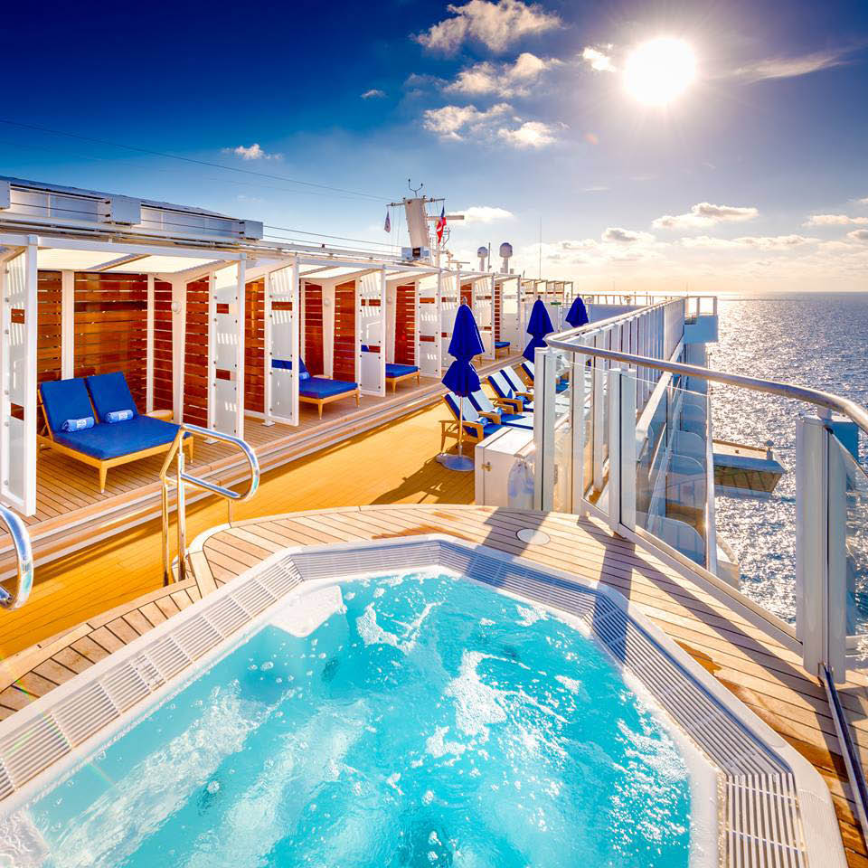 Cruise Planners Howard County Columbia Maryland cruise ship hot tub and cabanas