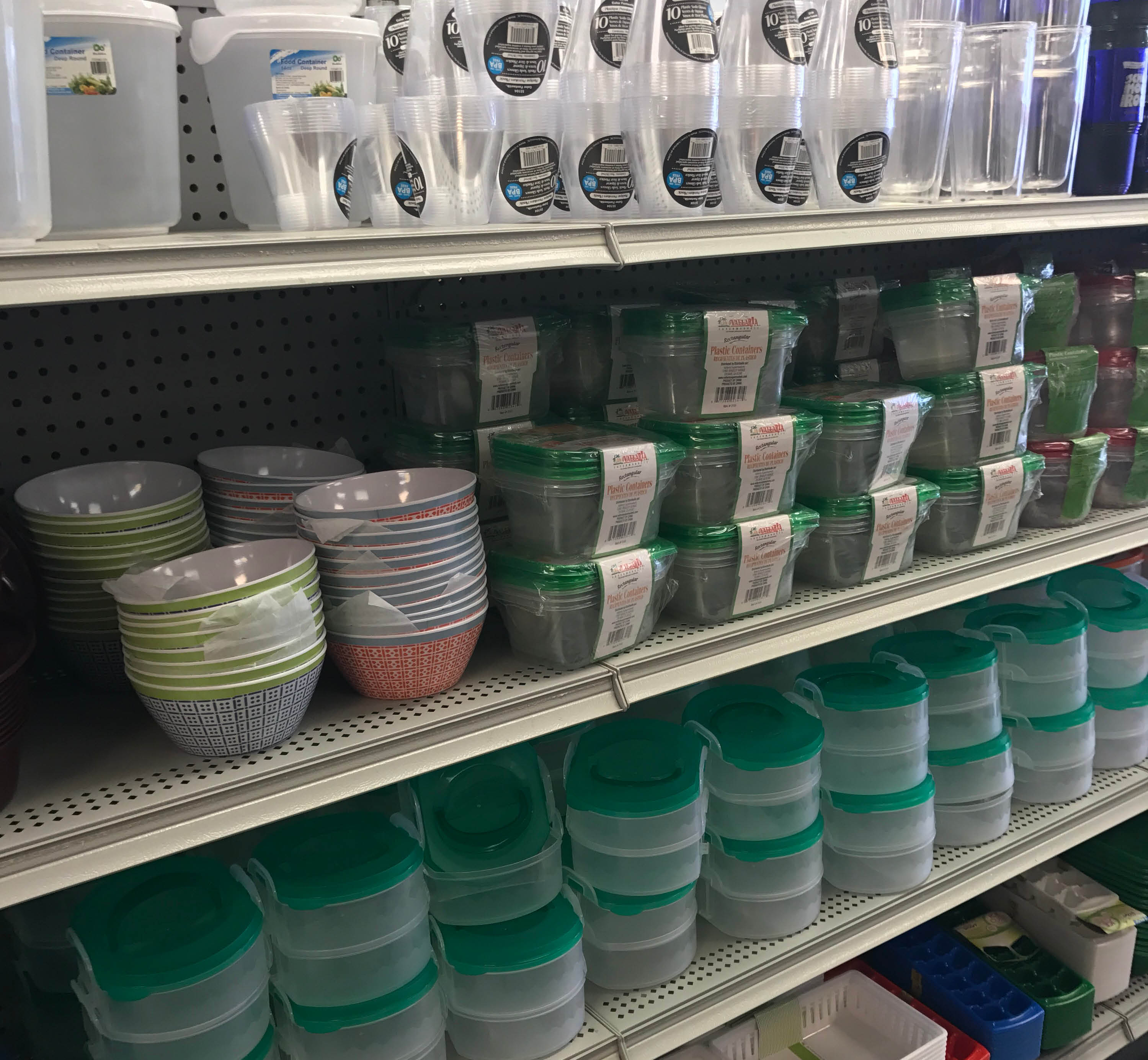 Kitchen storage and dishes