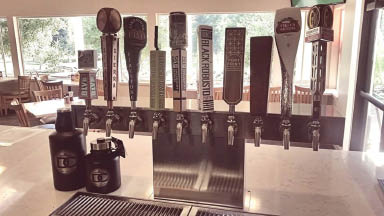 Deep Cliff Tap House has a selection of draft beers and entrees.