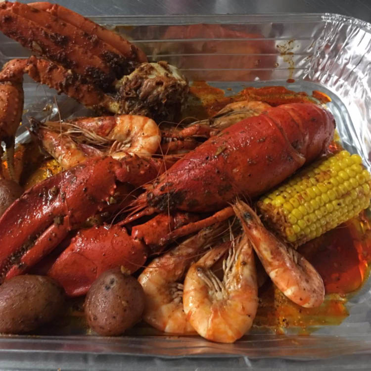 the whole platter at drunken crab in nrh,tx