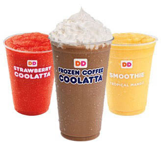 Refresh your day with something sweet. Indulge in a Frozen Coffee Coolatta, or enjoy the fun flavors of a fruity Coolatta beverage. If you're looking for a delicious choice to feel good about, try one of our fruit smoothies