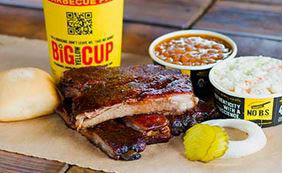 Get Bbq ribs, along with bbq chicken & beef brisket