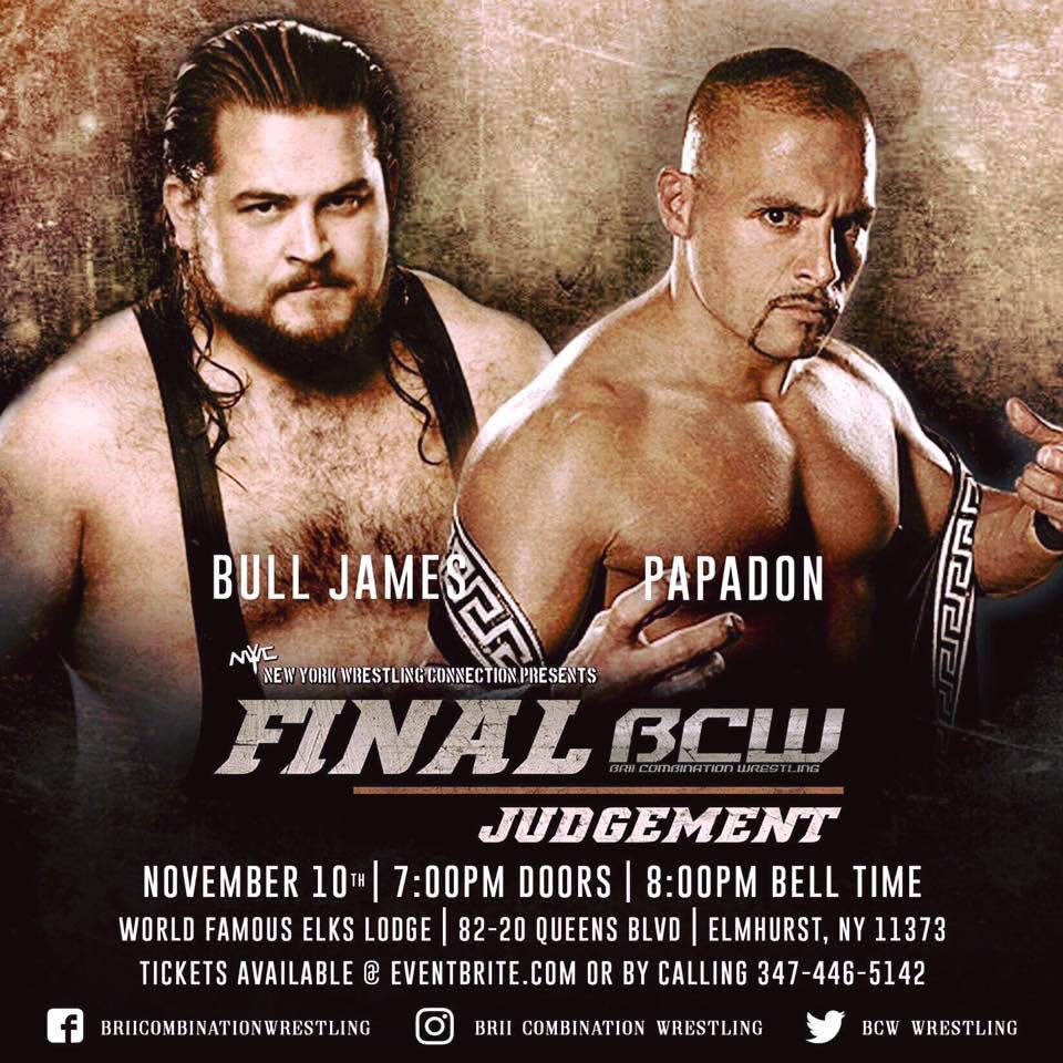 Pro wrestling near Jersey City