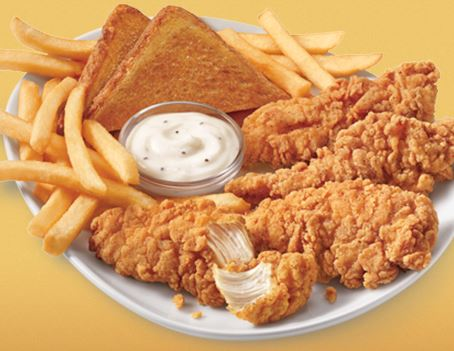 Chicken fingers and fries at Dairy Queen.