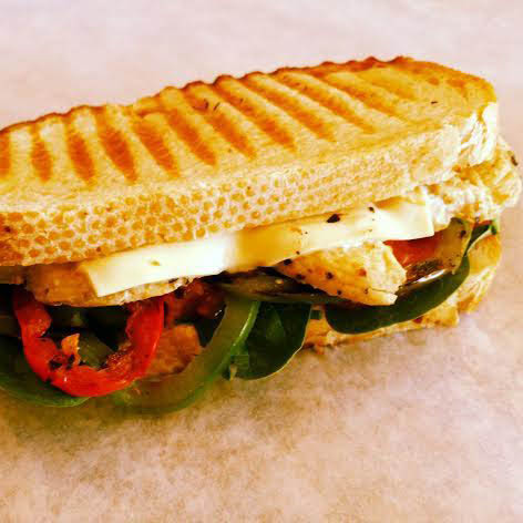 Sandwiches, Croinuts, Paninis, Lunch, Bagels, Breakfast, Croissants, Muffins, Coffee, Cappuccinos, Grilled Chicken Santa Fe Panini