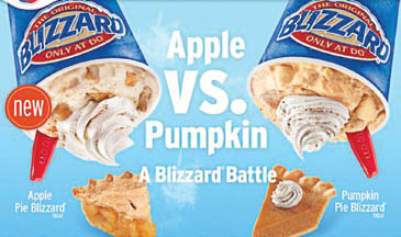 Dairy Queen Blizzard in Apple or Pumpkin