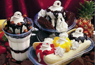 Dairy Queen's famous ice cream desserts with the curl on top