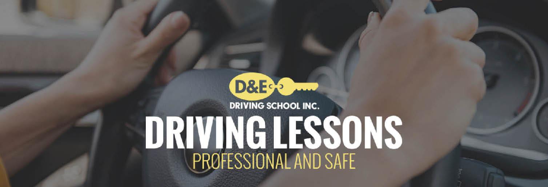 D&E Driving School banner