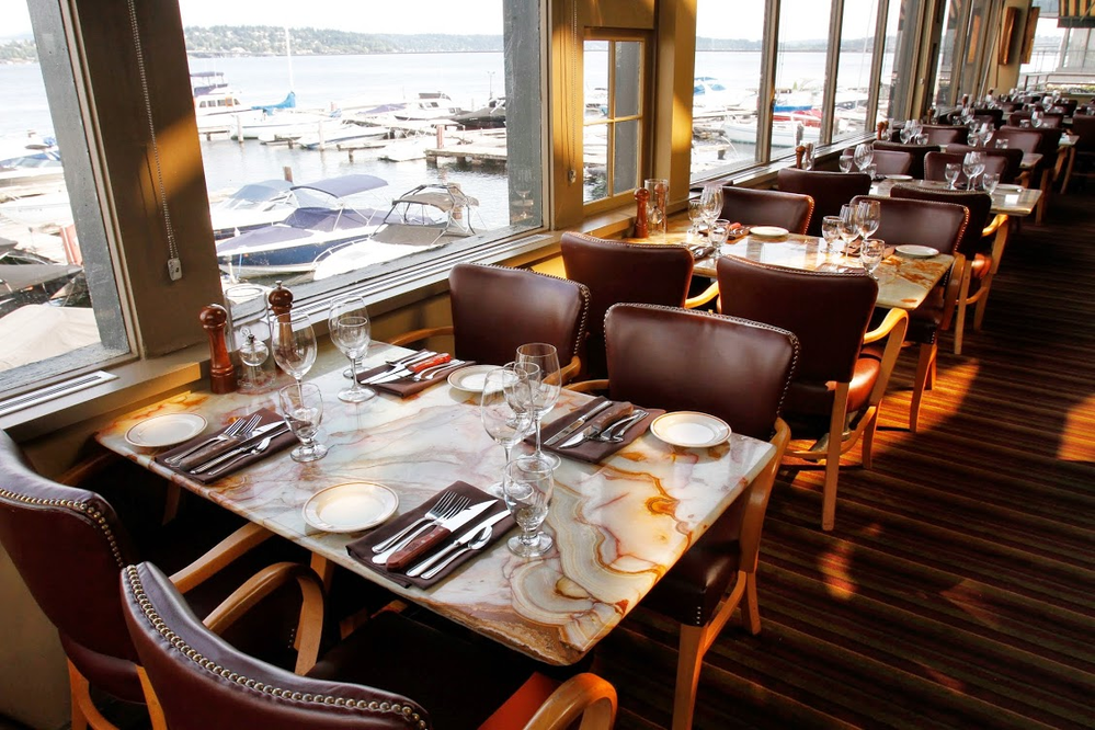 Enjoy gorgeous views of Lake Washington as you dine at Seattle's Daniel's Broiler Leschi