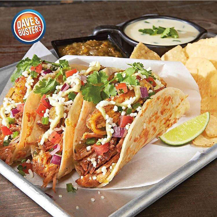 dave & buster's restaurant tacos entree