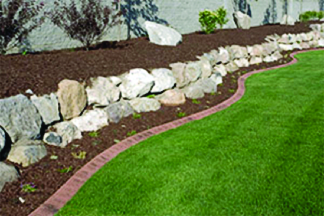 Landscaping using Debi's mulch products