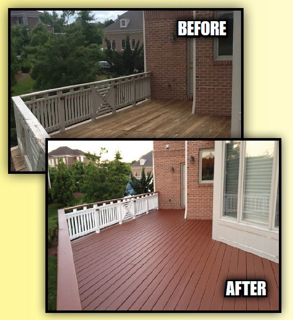 Deck Guru - Premier Deck Resurfacing System - before and after photos of deck resurfacing