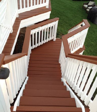 A gorgeous deck and steps that have been beautifully resurfaced by Deck Guru - Federal Way, WA - deck resurfacing