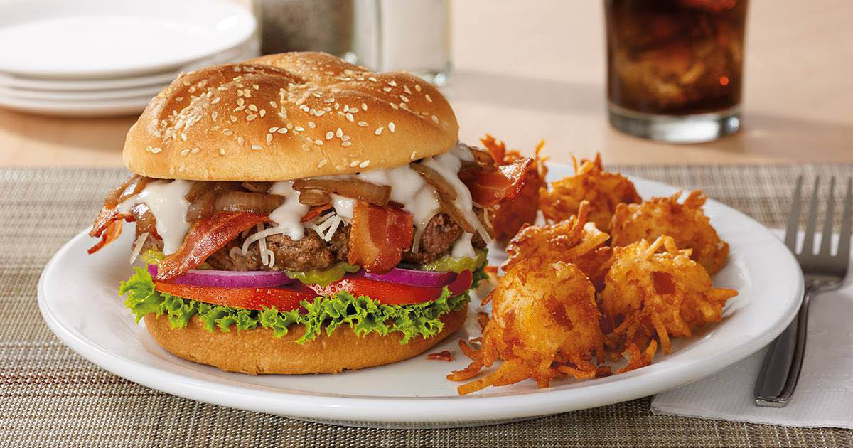 Try our Bacon Gouda Burger at Denny's in Cache Valley Utah
