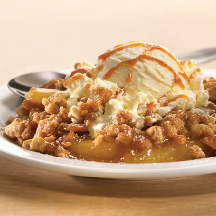 Denny's delicious desserts: Caramel apple pie crisp