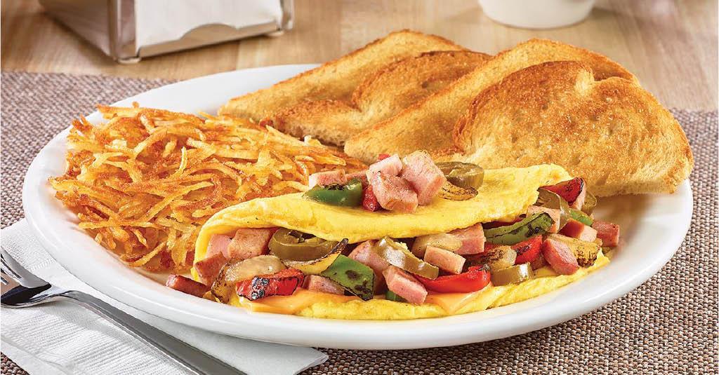 Omelette breakfast at Denny's - Denny's coupons near me - where is a Denny's near me - where is the nearest Denny's - Denny's closest to me - find the nearest Denny's