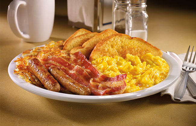 Bacon, Sausage, Eggs, Toast breakfast coupons in Rosemad