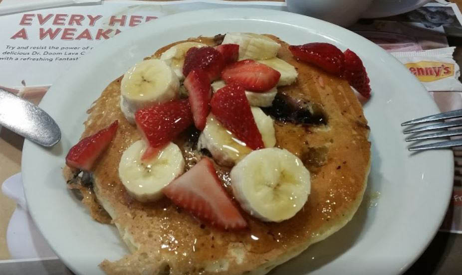 photo of banana pancakes from Denny's in Taylor, MI