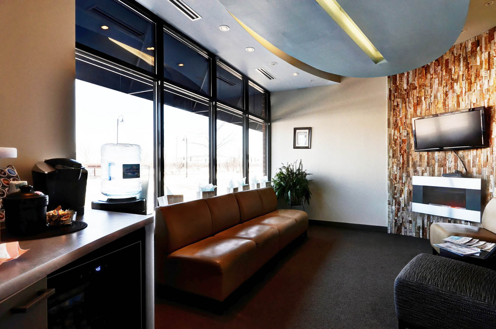 Dental Roots waiting area; dentists in Naperville, IL; pediatric dentists; family dentistry
