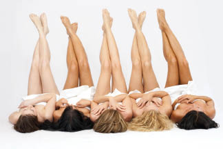 photo of women with smooth, hairless legs from Derma Smooth Boutique in Commerce, MI