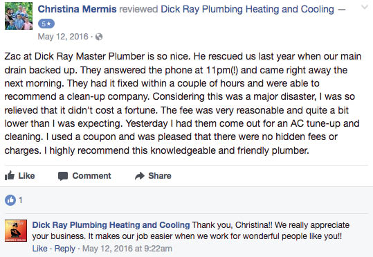 dick ray heating and cooling, heating and cooling kansas city, heating and cooling in johnson county, plumbing in kansas city, plumbing in johnson county, plumbers and HVAC in kansas city, drain cleaning in kansas city, dick ray drain cleaning