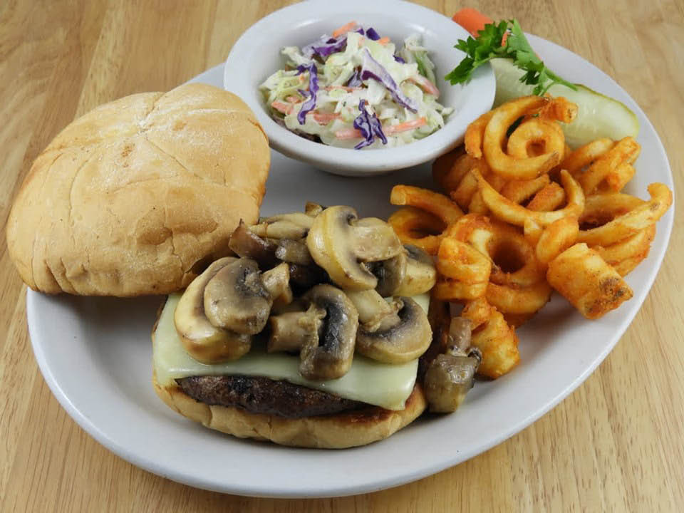Dicken's-Grille-and-Spirits-Mushroom-Burger-and-Fries
