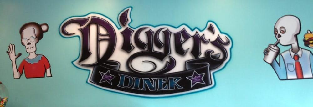 Digger's Diner in Concord, CA mural logo