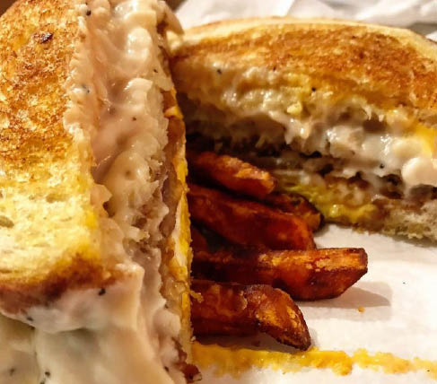 A popular favorite - chicken fried steak sandwich