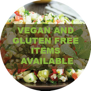 Dimassi's offers gluten free and vegan food selections on our menu