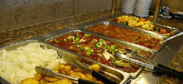 Our delicious all-day Mediterranean buffet