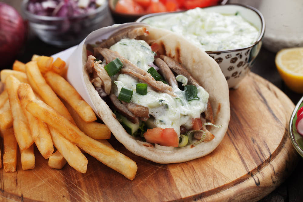 shawarma sandwich for lunch