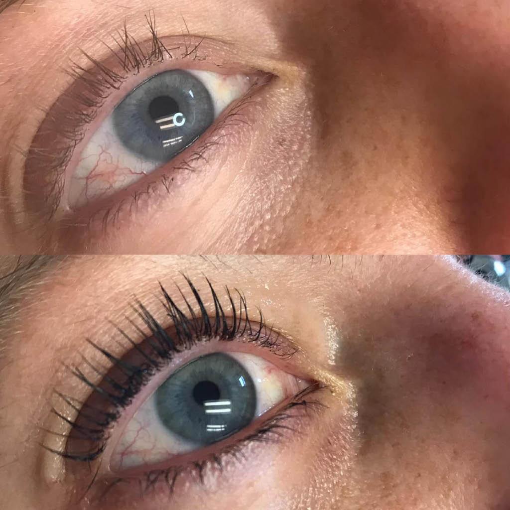 district 108 salon spa hales corners eyelashes lift tint semi permanent services