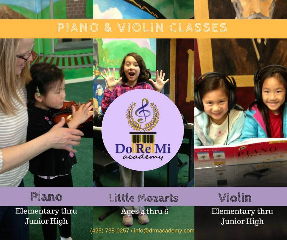 Do Re Mi Academy in Renton, WA - music theory lessons - ear training lessons - ensemble development lessons - musical games - music school for kids - preschool for kids